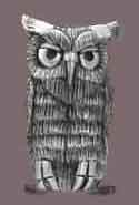 A pewter piece, 3 Owls, by Clarence P. Cameron