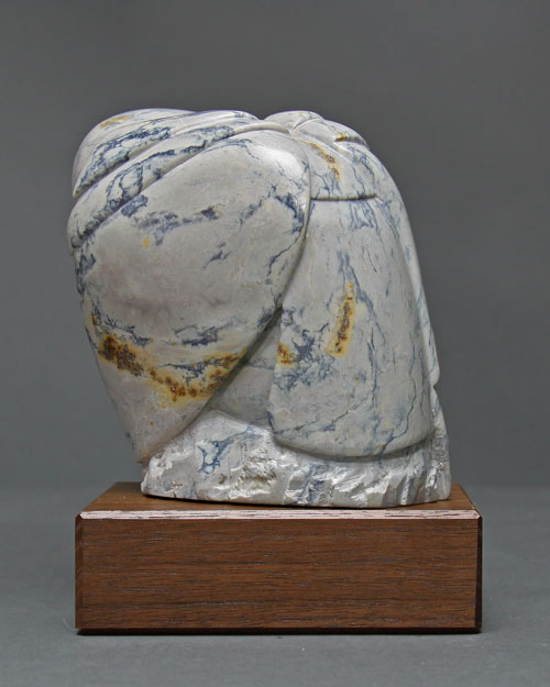 A view of the back of Soapstone Owl #19