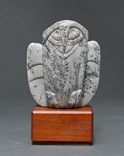 A photo of Soapstone Owl #4F by Clarence P. Cameron, Madison, Wisconsin