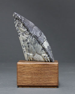 A photo of Soapstone Owl #11F by Clarence P. Cameron, Madison, Wisconsin