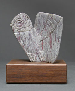 Soapstone Owl #23F by Clarence P. Cameron