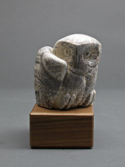 A photo of dendritic Soapstone Owl #27F by Clarence Cameron