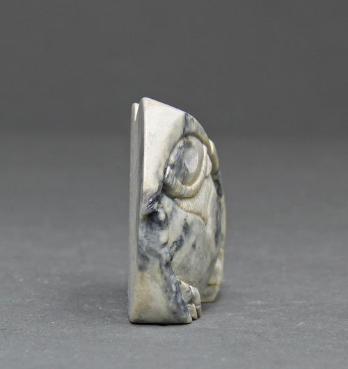 Another side image of Soapstone Owl #6 by Clarence P. Cameron