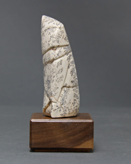 A side view photo of dendritic Soapstone Owl #16