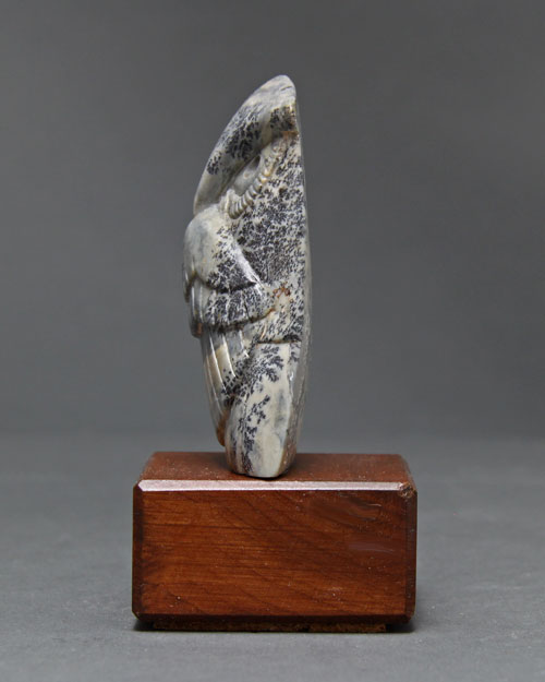 A view of one side of Soapstone Owl #17