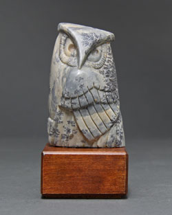 A photo of Soapstone Owl #17 by Clarence P. Cameron of Madison, Wisconsin