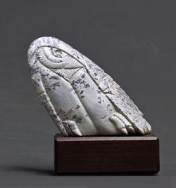 A photo of Soapstone Owl #25F by Clarence P. Cameron