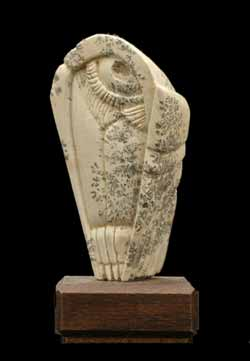 A photo of dendritic Soapstone Owl #29 by Clarence P. Cameron of Madison, Wisconsin