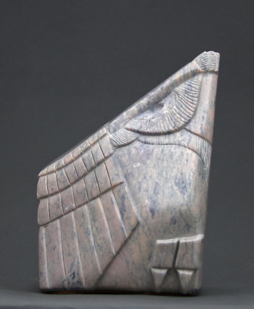 A larger photo of another view of Soapstone Owl #14