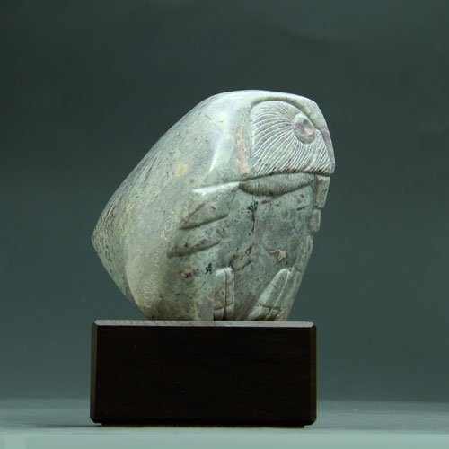 Another side view of Soapstone Owl #5F
