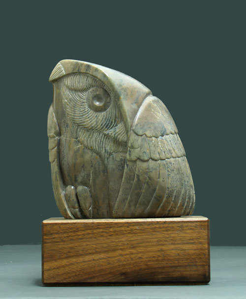 A larger photo of Soapstone Owl #21