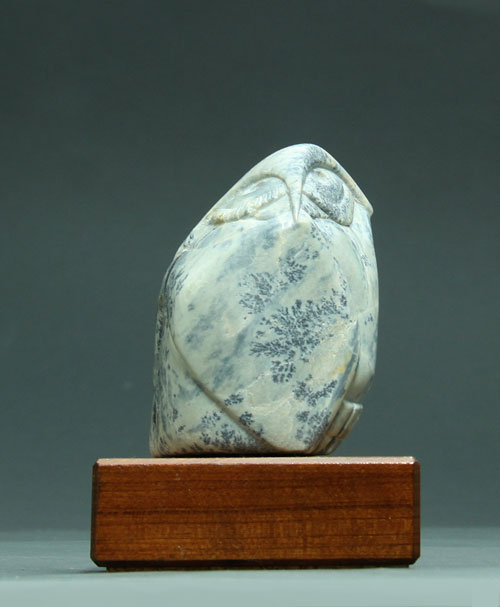 A larger photo, front view, of Soapstone Owl #15