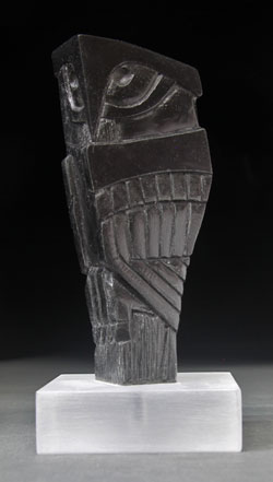 A photo of Soapstone Owl #17 by Clarence P. Cameron, Madison, Wisconsin