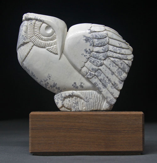 A larger photo of the front of Soapstone Owl #30