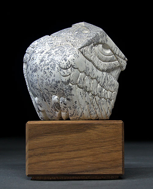 A larger photo of Soapstone Owl #22 by Clarence P. Cameron of Madison Wisconsin