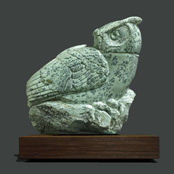 The Gleaner, my 2015 soapstone sculpture for Birds in Art