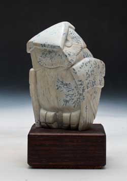 A photo of Soapstone Owl #14L by Clarence P. Cameron, Madison, Wisconsin