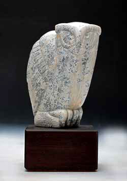 A photo of Soapstone Owl #18L