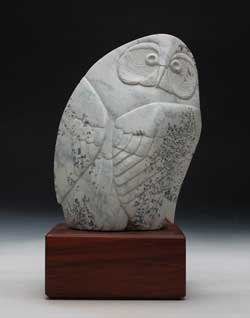 A photo of Soapstone Owl #20L by Clarence P. Cameron