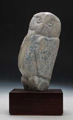 A photo of Soapstone Owl #28L by Clarence Cameron