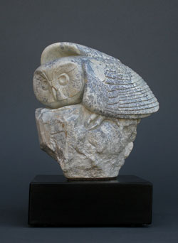 In the Moment, a soapstone owl by Clarence P. Cameron