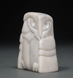 A photo of dendritic Soapstone Owl #27 by Clarence P. Cameron