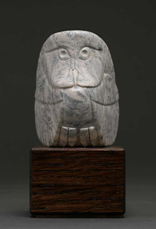 A larger photo of Soapstone Owl #18 by Clarence P. Cameron of Madison Wisconsin
