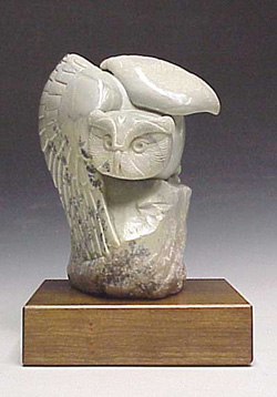 A photo of the Soapstone Owl entitled Free Flight